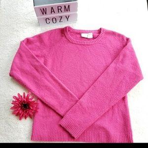 Pink fuzzy sweatshirt